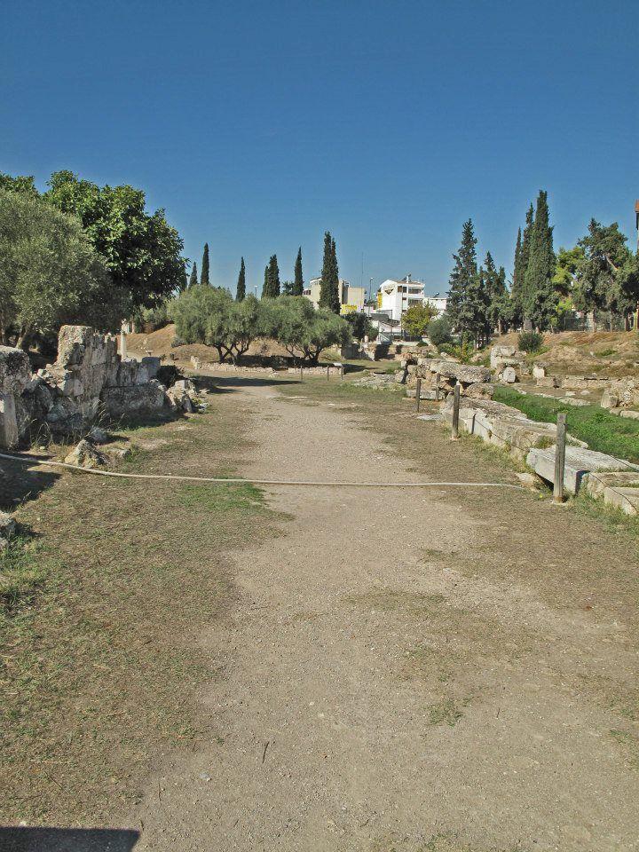 the ancient sacred way leading to eleusis kerameikos athens cyclades santorini paros pinterest