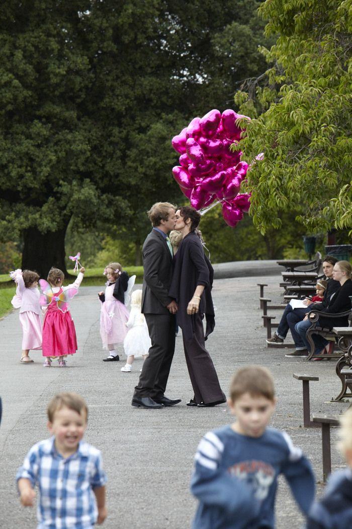 Romantic moment. Amanda (Fiona Gillies) and Dan (Geoffrey Streatfeild)