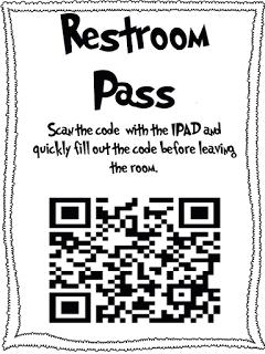 Diary of a Third Grade Teacher Digital restroom pass