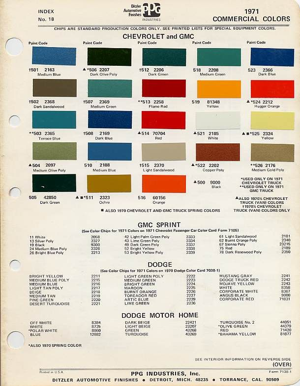 Factory Blazer Colors - The 1947 - Present Chevrolet & GMC Truck