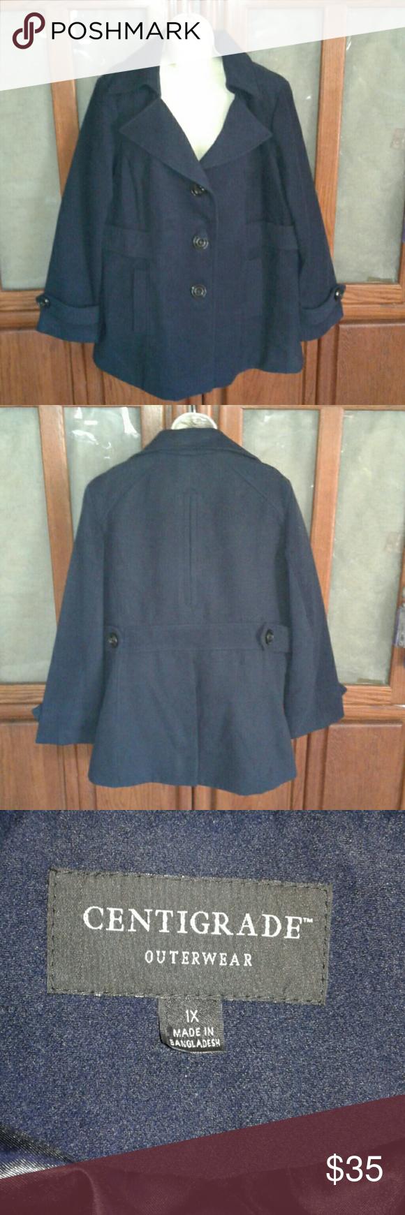 Centigrade Outerwear Navy Blue Car Coat Clothes Design Outerwear Outerwear Jackets [ 1740 x 580 Pixel ]