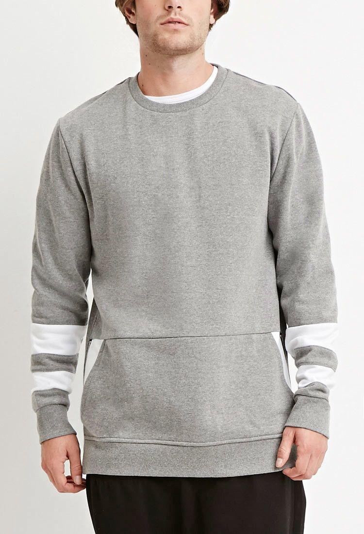 Side Zip Colorblocked Sweatshirt 21 Men 2000146216