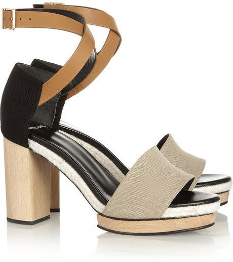 15844aeef Pierre Hardy Canvas and leather sandals on shopstyle.com | shoes ...
