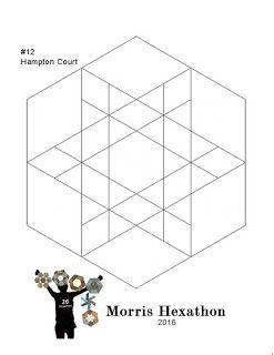 Morris Hexathon 12: Hampton Court (Barbara Brackman's