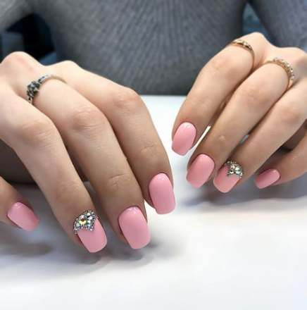 56 trendy nails design with rhinestones square nails
