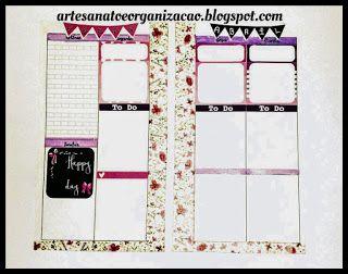 Artesanato, organização e planners!: decoração semanal 03 a 09 de março. Plan with me, planner personal.