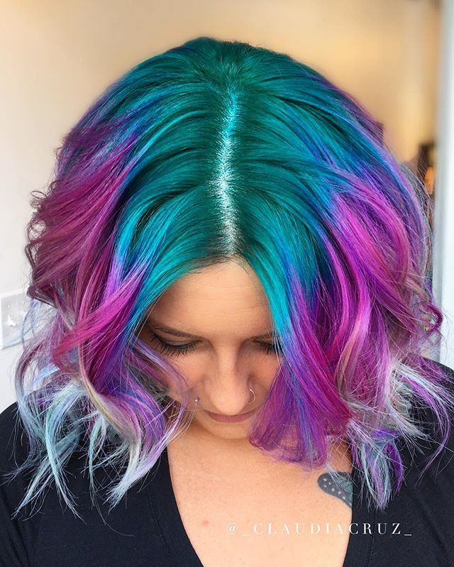 Back To One Of My Favorite Color Combos Using Pulpriothair Book Online Now Thru Link In My Bio Hair Styles Hair Inspiration Color Artistic Hair