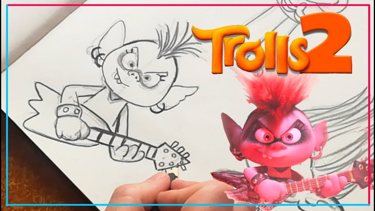 How To Draw Queen Barb From Trolls 2 Nel 2020