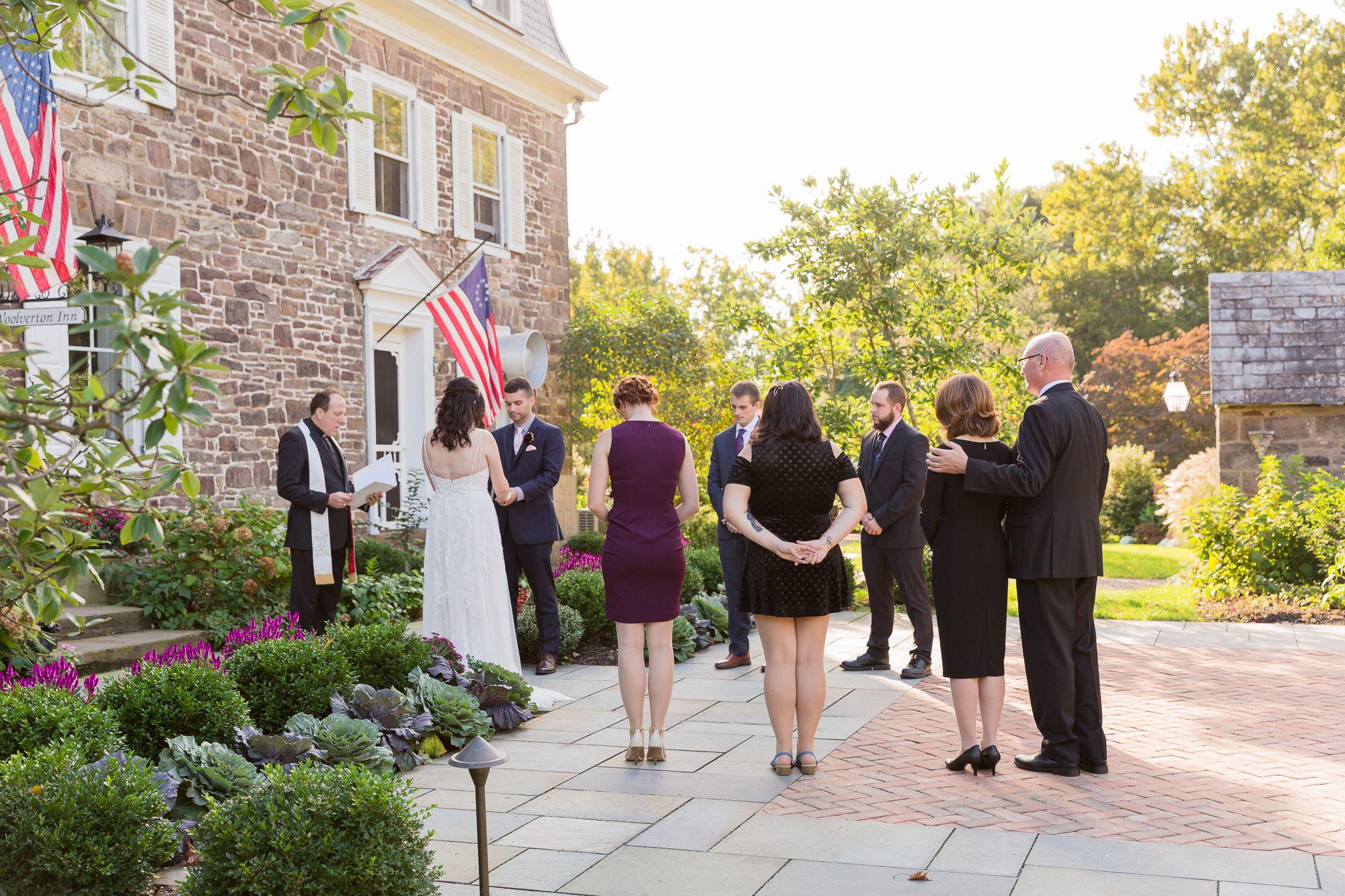 Fall Micro Wedding Ceremony At Woolverton Inn In 2020 Wedding Wedding Photography Ceremony