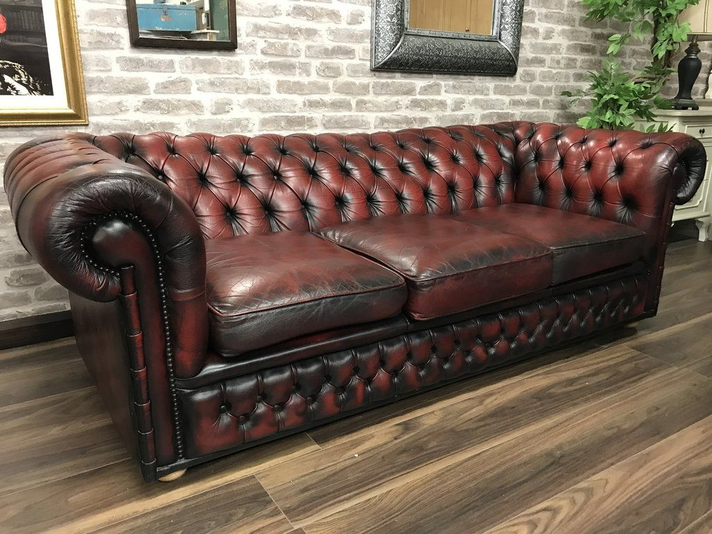Lovely Chesterfield Oxblood Sofa #8 - Chesterfield Club Sofa - Oxblood Red