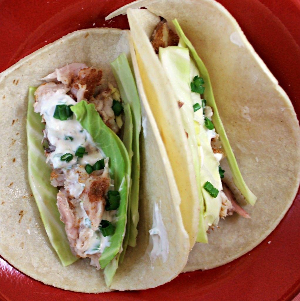 Fish Tacos With Lime Cilantro Crema Fish Tacos Tacos Cilantro