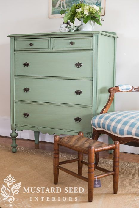 green painted furniture. Lucketts Green Dresser | Miss Mustard Seed Painted Furniture U