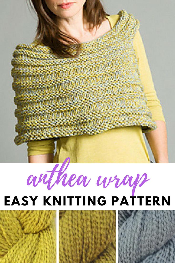 Classic Elite Anthea Easy Wrap Knitting Pattern PDF | Diy knitting ...