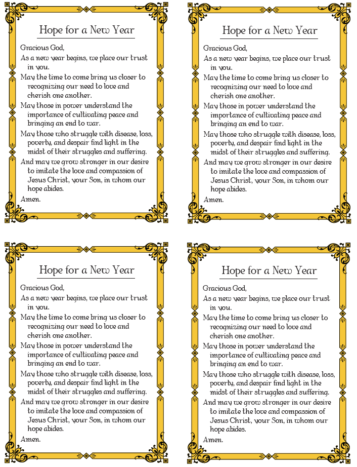 New-Year-Prayer | Catholic Catechist grab bag | Pinterest ...
