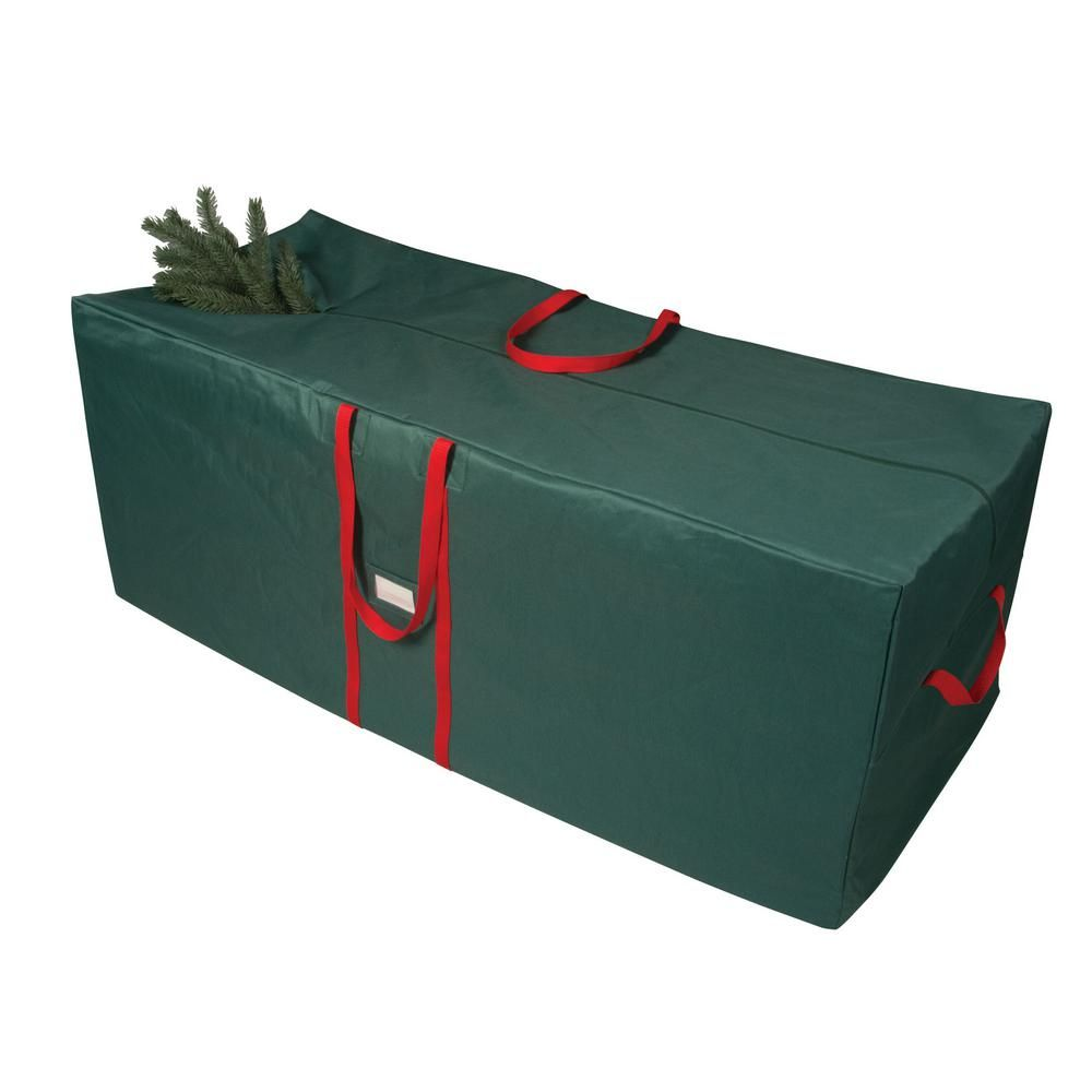Richards Green And Red 58 In Artificial Tree Storage Bag 64558 The Home Depot In 2020 Tree Storage Bag Christmas Tree Storage Bag Christmas Tree Storage