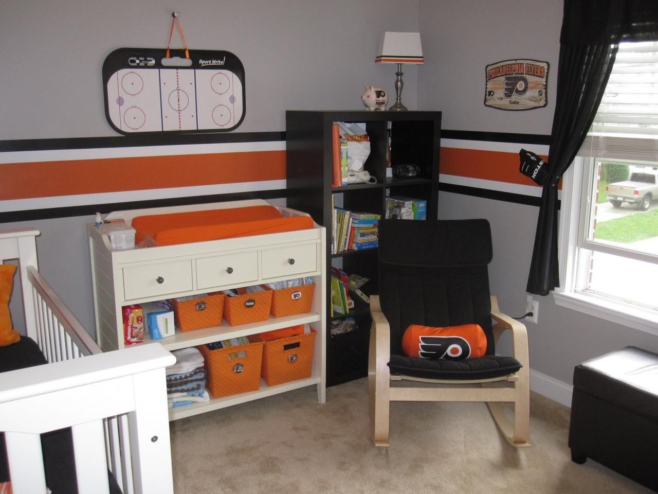 hockey themed baby room