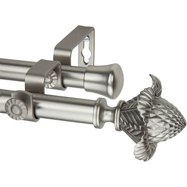 Rod Desyne Double Curtain Rod With Bloom Finials Jcpenney Rod