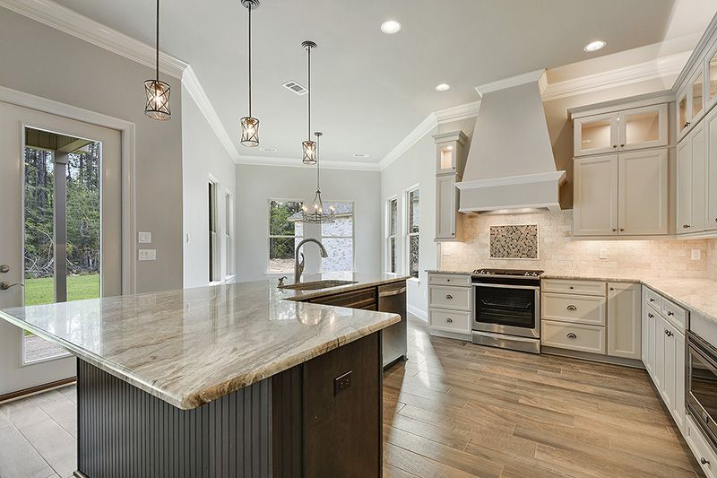 L Shaped Kitchen Island With Kitchen Sink And Dishwasher