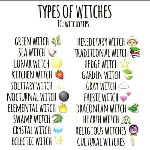 Emoji Types of Witches | Witchery | Wiccan witch, Moon witch