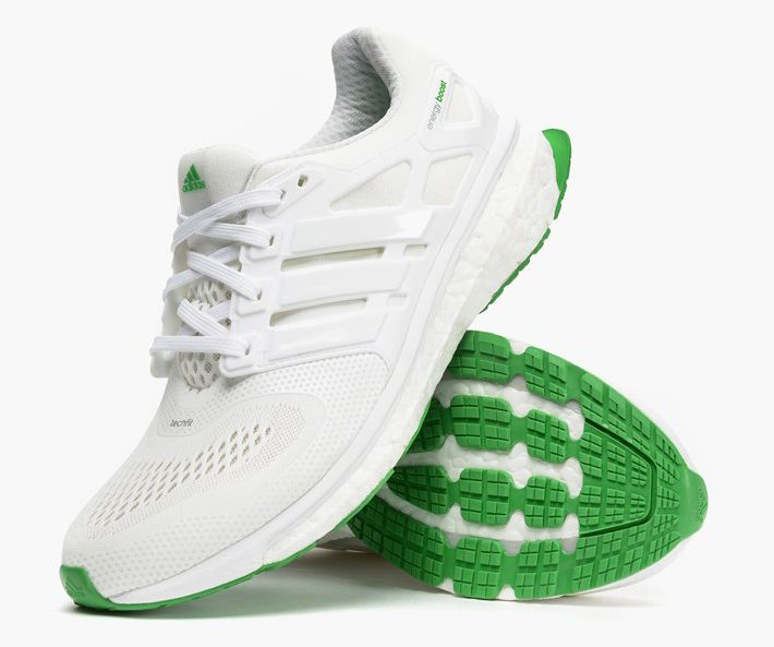 adidas esm energy boost white signal green 2 sneakers