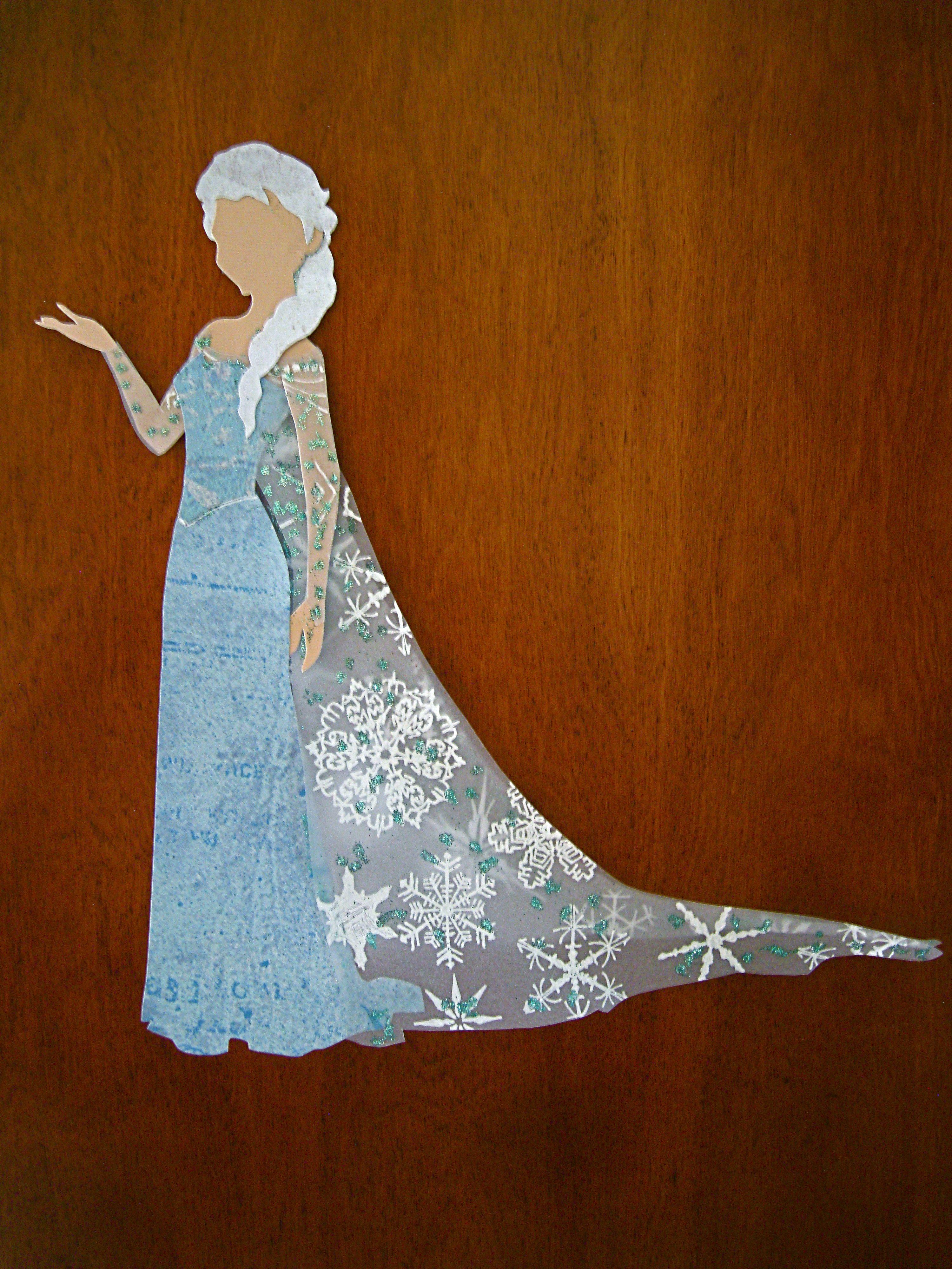 Elsa full length silhouette syshopthepaperdaffodil