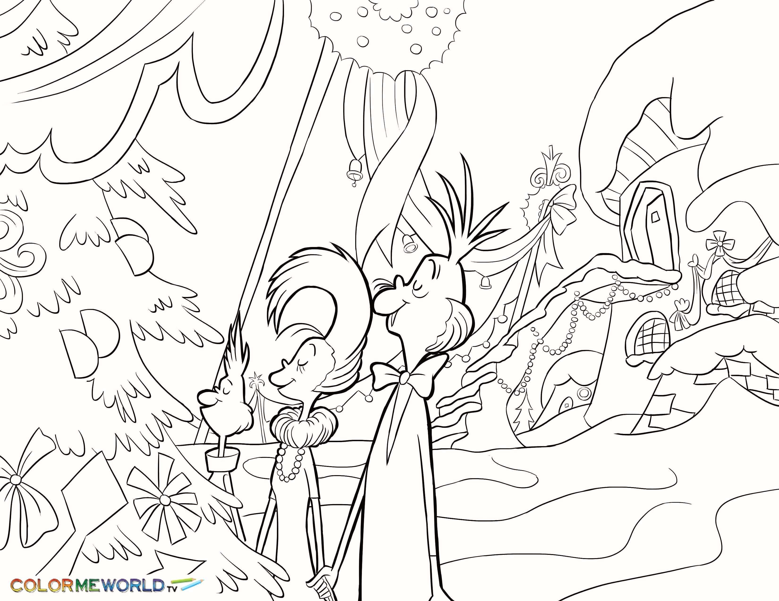 Xmas Coloring Pages Grinch Coloring Pages Christmas Coloring Pages Tree Coloring Page