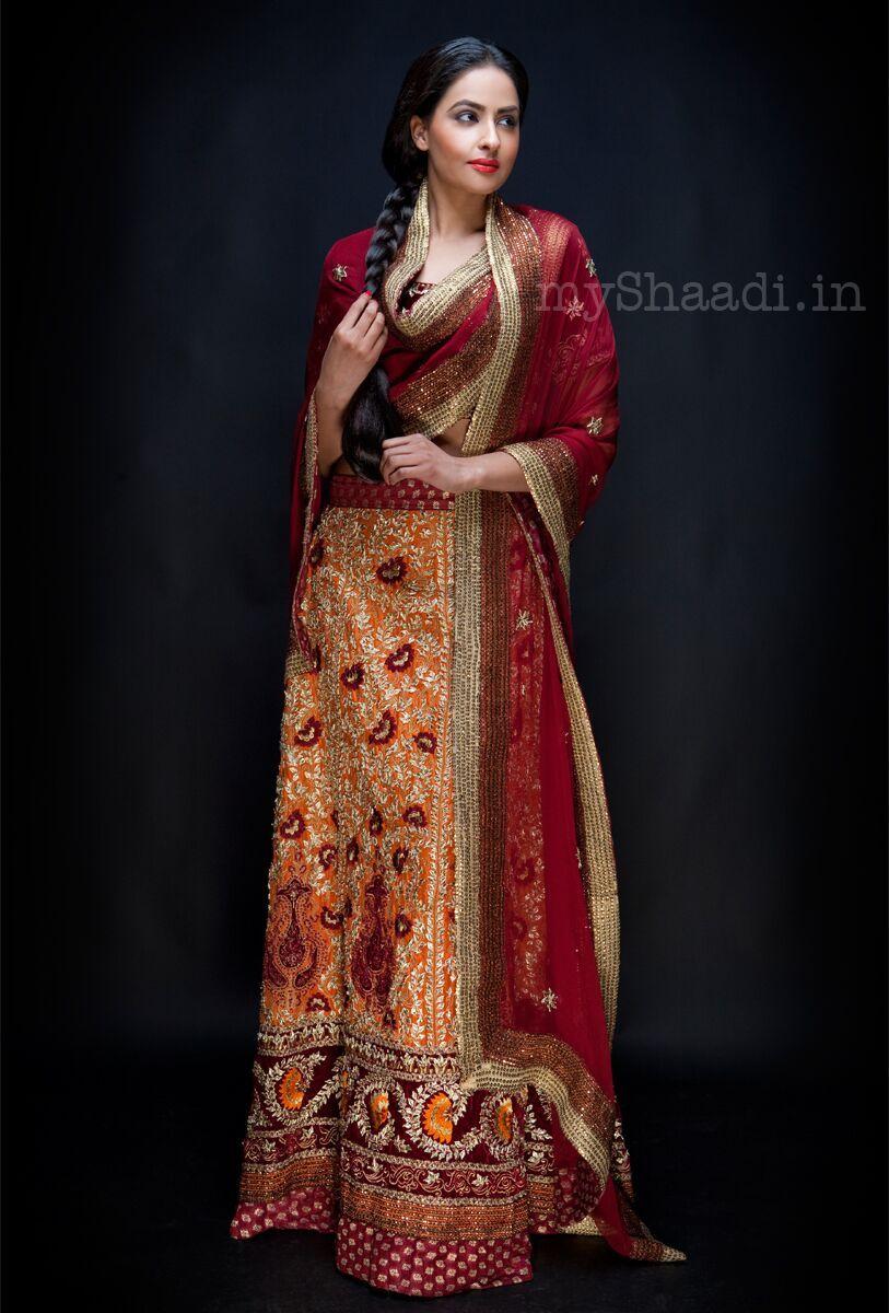 Myshaadi ue indian bridal wear by osman ghani dresses