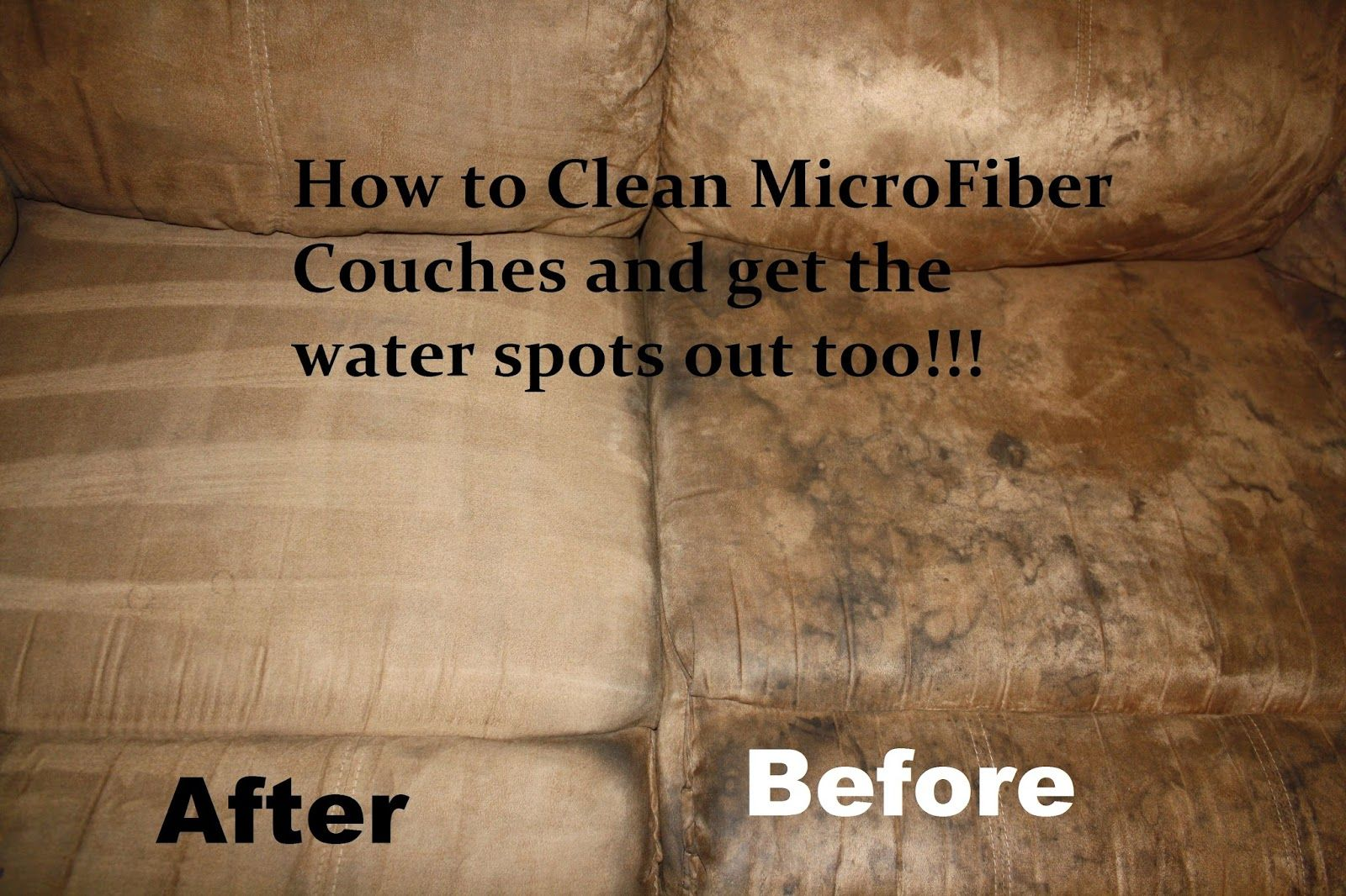 best stain remover for fabric sofa ashley furniture larkinhurst reviews how to clean microfiber couches and get the water spots