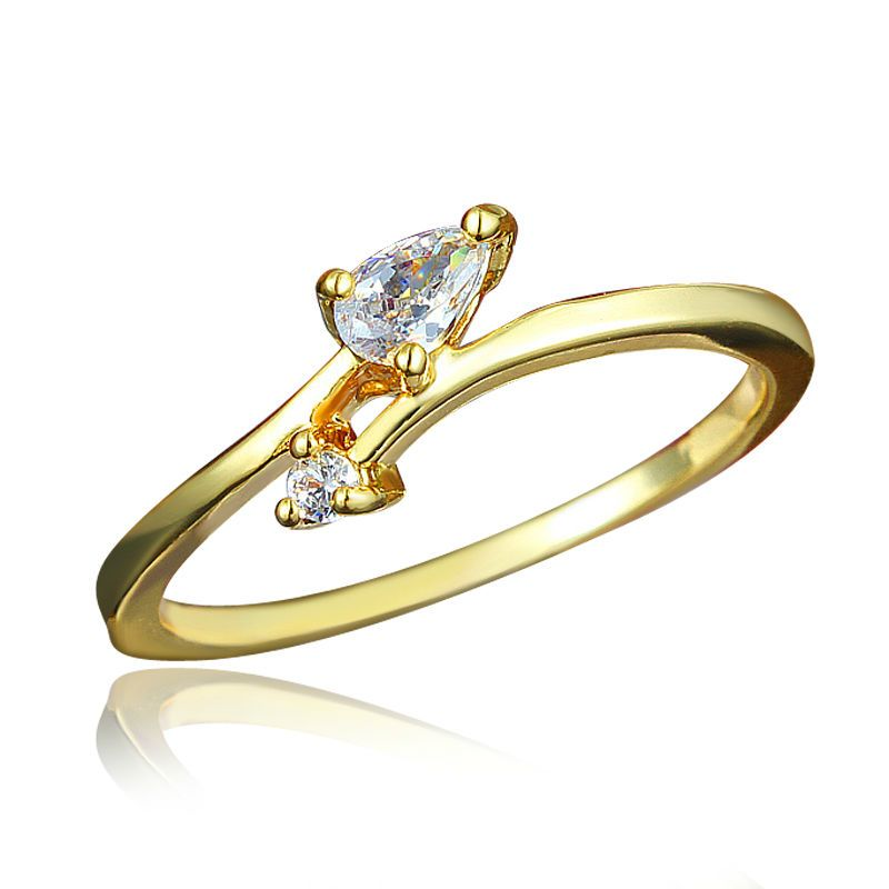 565b921d08cb1 Simple Design Gold Plating Finger Ring for girl | Wedding ...