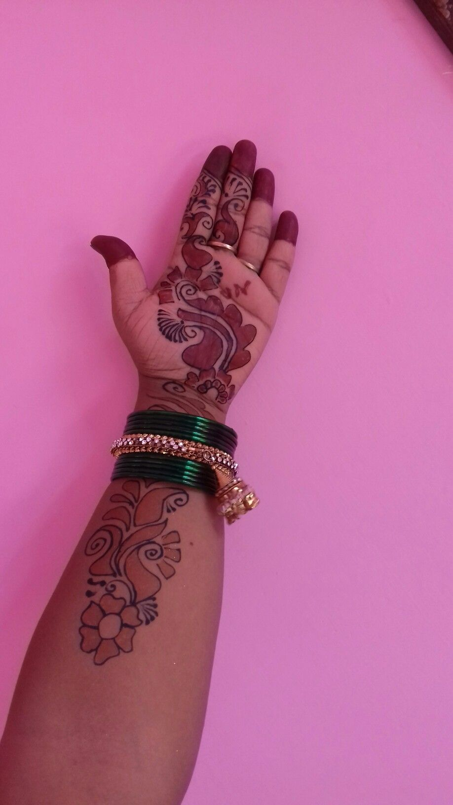 Beautiful Black And Red Mehndi Design By Me Red Henna Bridal