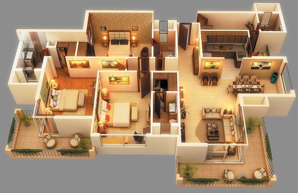 Bullmen Realty India Pvt Ltd. House plans, Modern house
