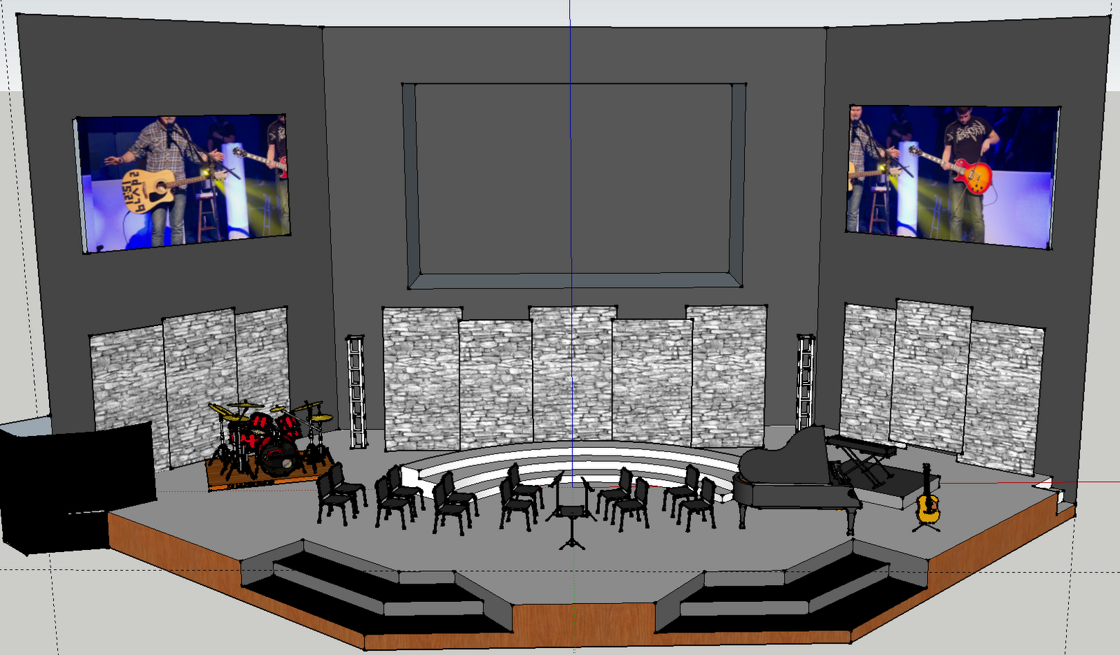 Awesome Contemporary Church Stage Design Ideas Photos ...