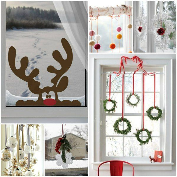 kreative ideen f r eine festliche fensterdeko zu weihnachten weihnachten pinterest. Black Bedroom Furniture Sets. Home Design Ideas
