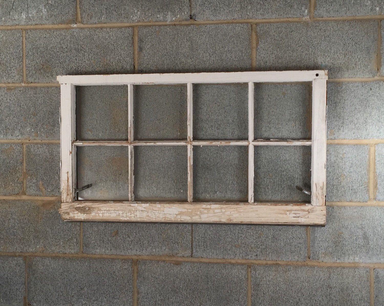 8 Pane Window Frame Vintage 8 Pane Window Frame 36w X 20l White Rustic Antique