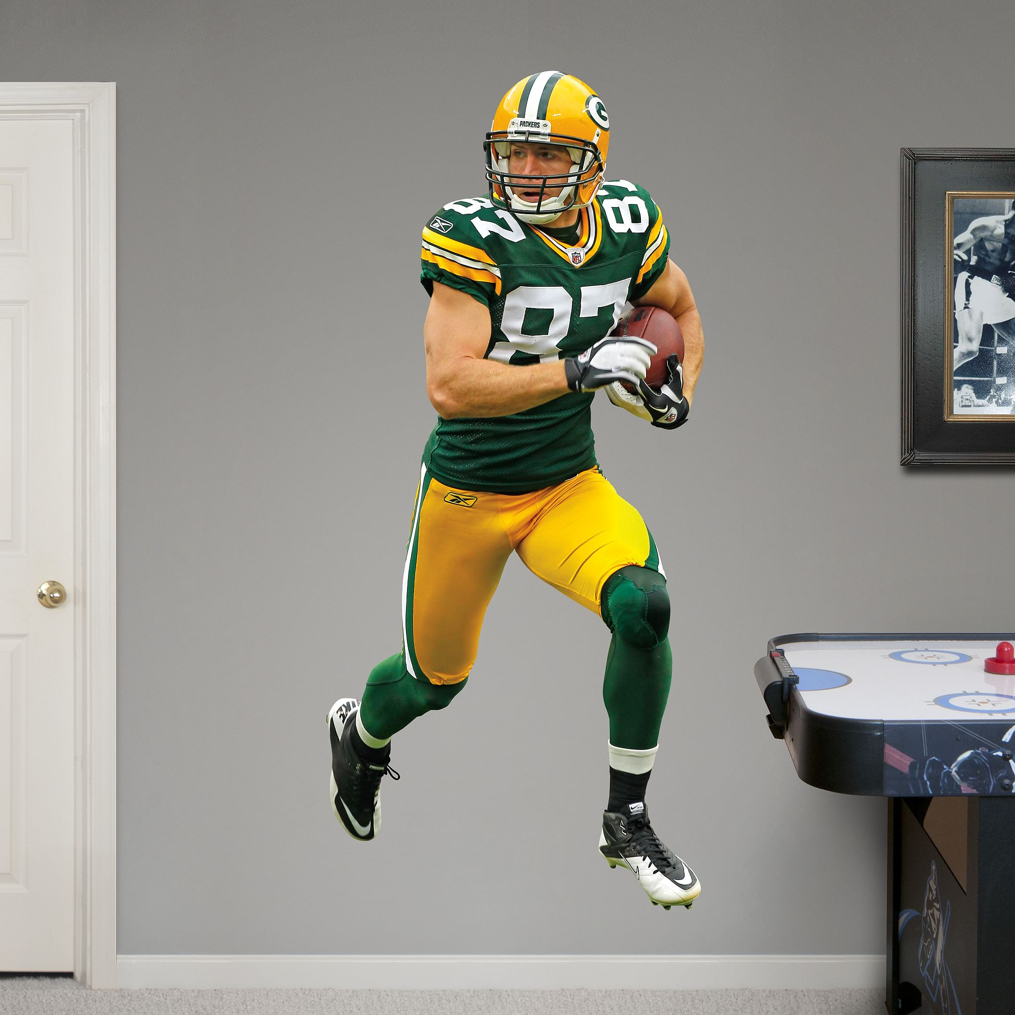 Jordy Nelson Real Big Fathead Wall Decal Green Bay Packers Wall Decal Dallas Sports Nfl Packers Nfl Green Bay