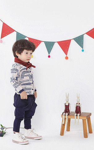Totem Bird Cardigan Set for boys aged 1-6 at Color Me WHIMSY.