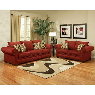 Best Overstock This Contemporary 2 Piece Velvet Sofa Set 400 x 300