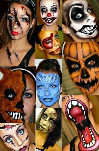 Halloween makeup ideas Halloween Pinterest Halloween makeup - face makeup ideas for halloween