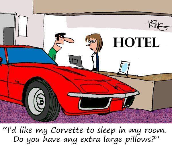 Dallas Classic Cars: Saturday Morning Corvette Comic: A Room For Two Please