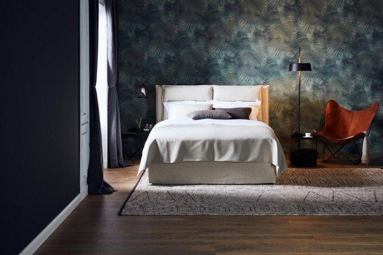 Schlafzimmer renovieren Tapete Bodenbelag neues Bett #bedroom