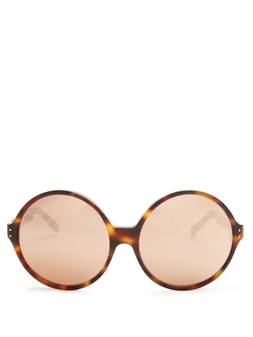 9913f7f6bae0 LINDA FARROW Oversized rose-gold plated sunglasses.  lindafarrow  sunglasses