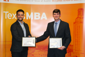 PRESS RELEASE (announcement) Two Entrepreneurs Win Texas MBA ...