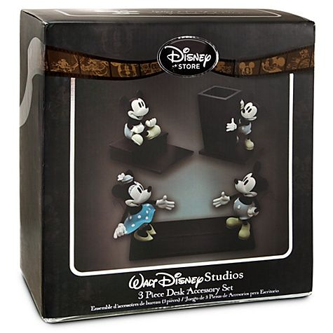 Walt Disney Studios Mickey Mouse Desk Accessory Set 3 Pc I Want