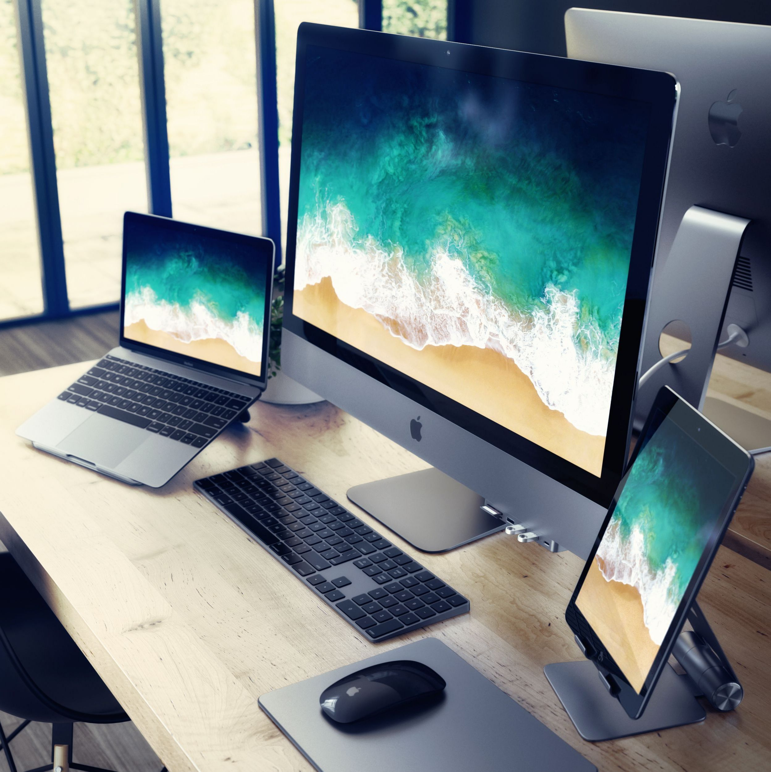 Apple S Latest Imacs Are Fast And Familiar Imac Desk Setup Computer Desk Setup Office Setup