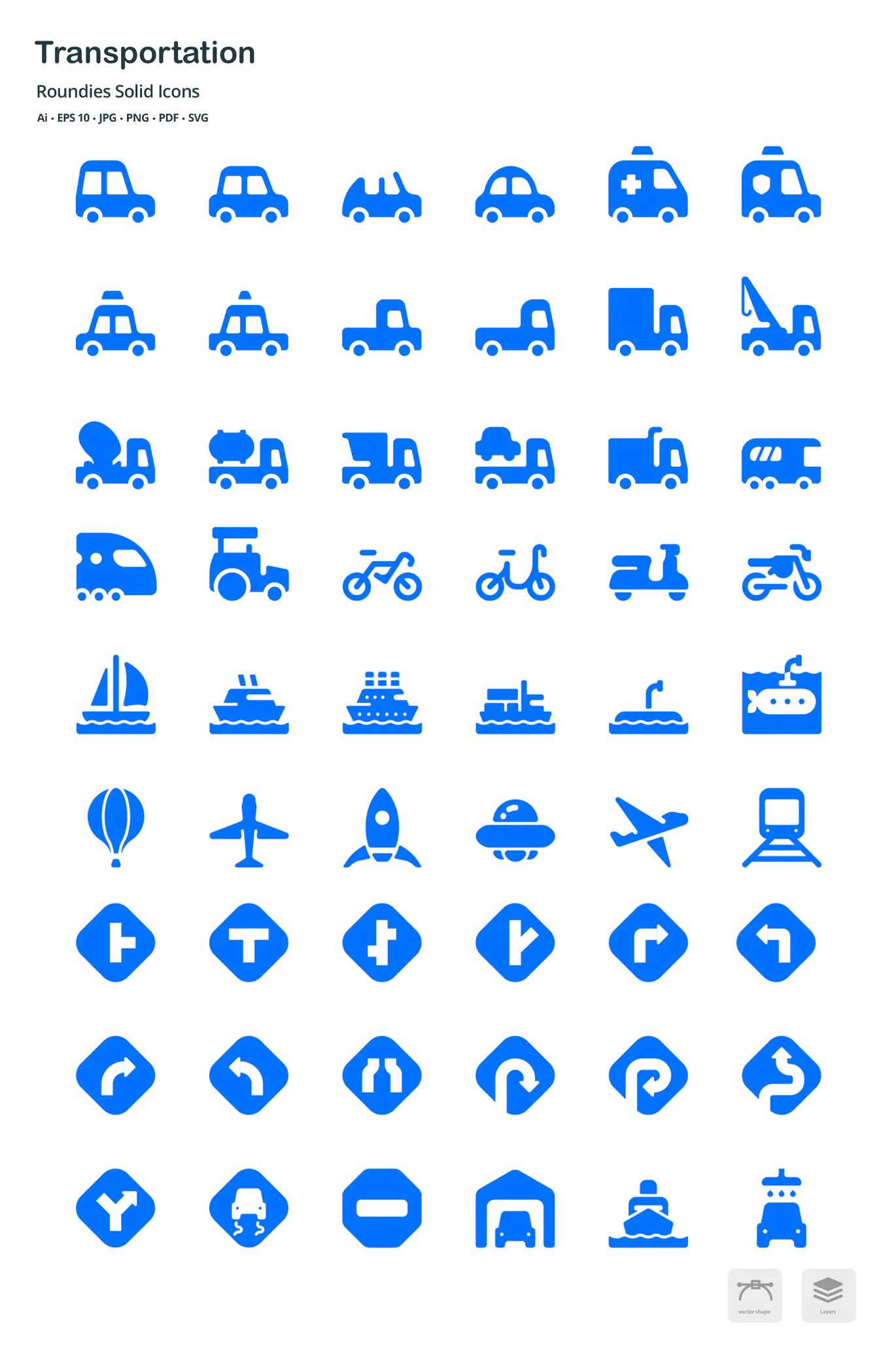 Transportation Roun S Solid Glyph Icons By Roundicons On