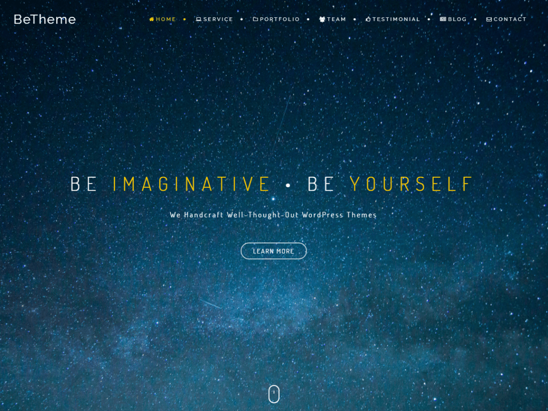 BeOnePage | Dark | Video in header | design | Wordpress