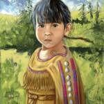 """Lakota Child"" by Native American Artist Leonard Peltier"