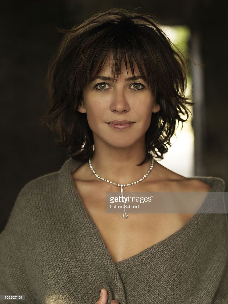 Actress Sophie Marceau poses at a portrait session