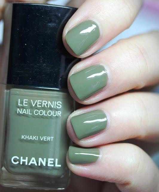 Chanel Le Vernis Nail Colour Khaki Vert | Nails | Pinterest | Color ...