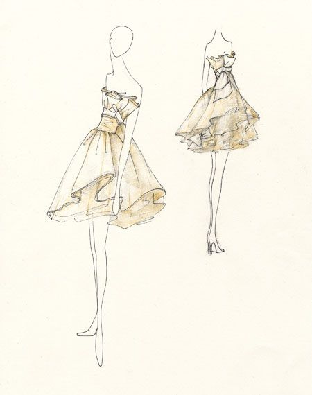 Fashion Dress Sketches Dress Sketches For Fashion Fashion Designing